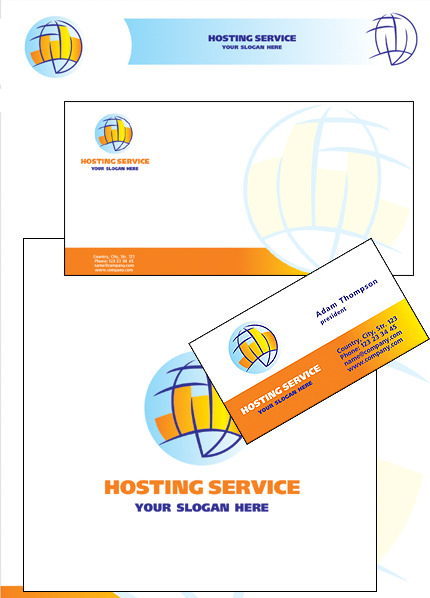 Hosting Corporate Identity Template Vector Corporate Identity preview