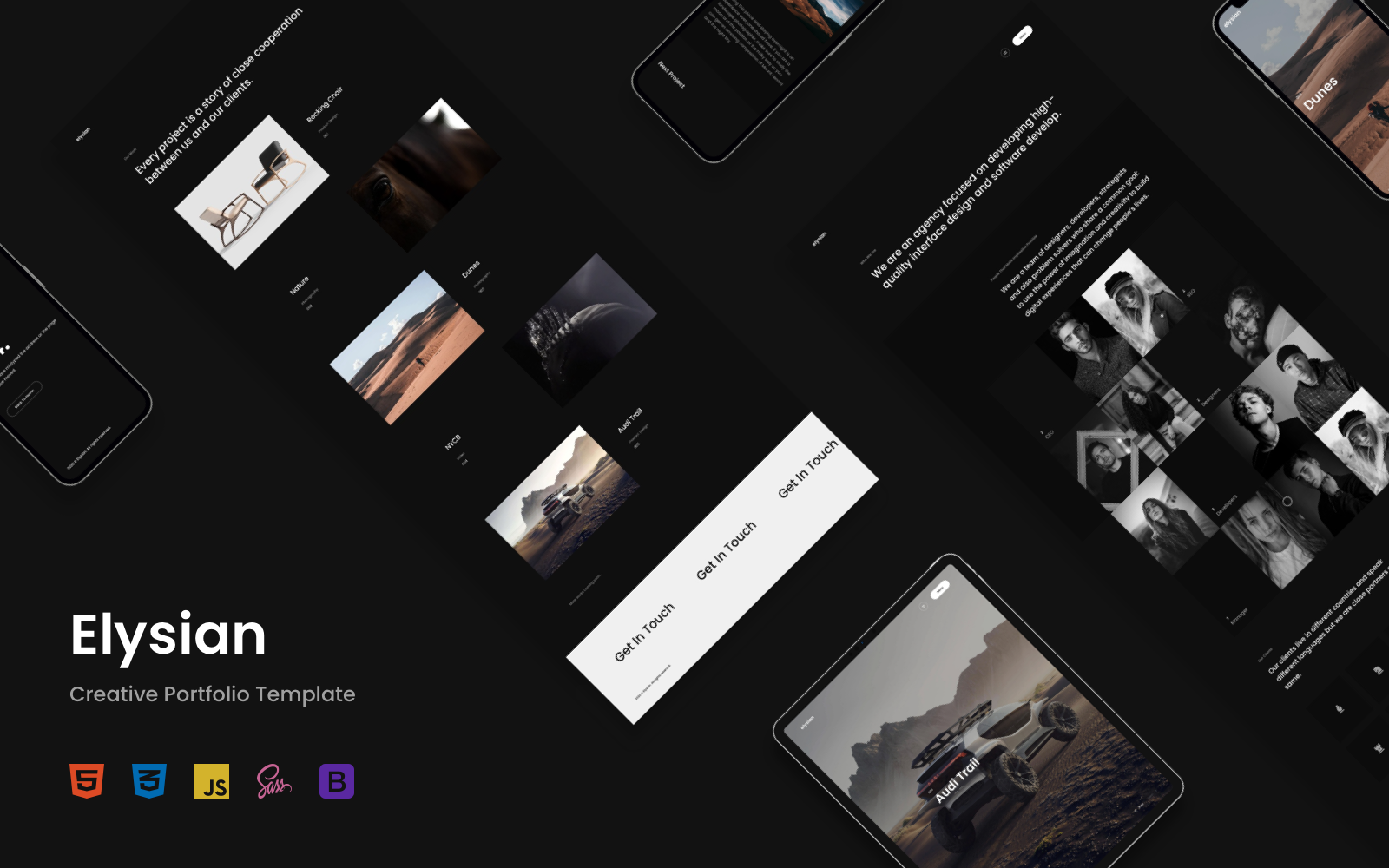 Elysian - Creative Portfolio Templates de Landing Page №137112
