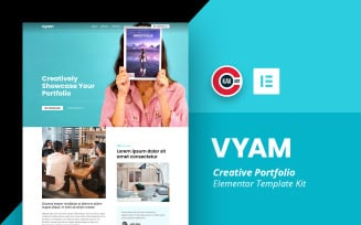 Vyam - Creative Portfolio Template - Elementor Kit