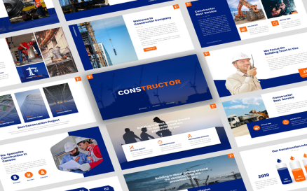 Constructor - ConstructionPresentation PowerPoint template PowerPoint Template