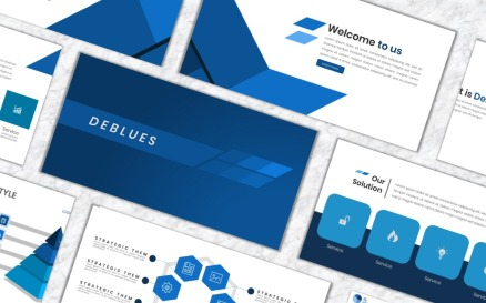 Deblues PowerPoint Template