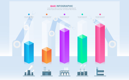Bar Chart Diagram Infographic Element