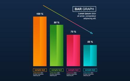 Statistical Economic Data Infographic Element
