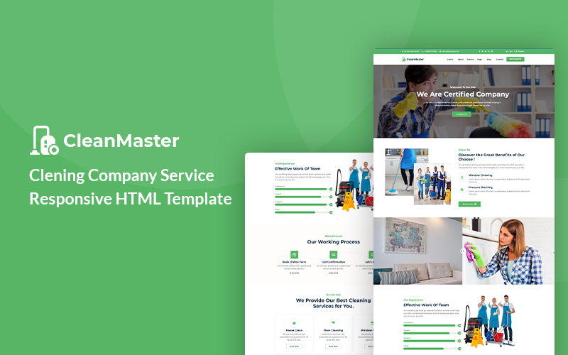 Cleanmaster - Cleaning Company Service HTML5 №137971