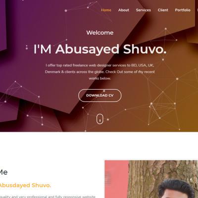 Shuvo Personal Portfolio Landing Page Template Landing Page Template #137977
