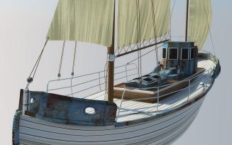 Odessa Fishing Boat 3D Model