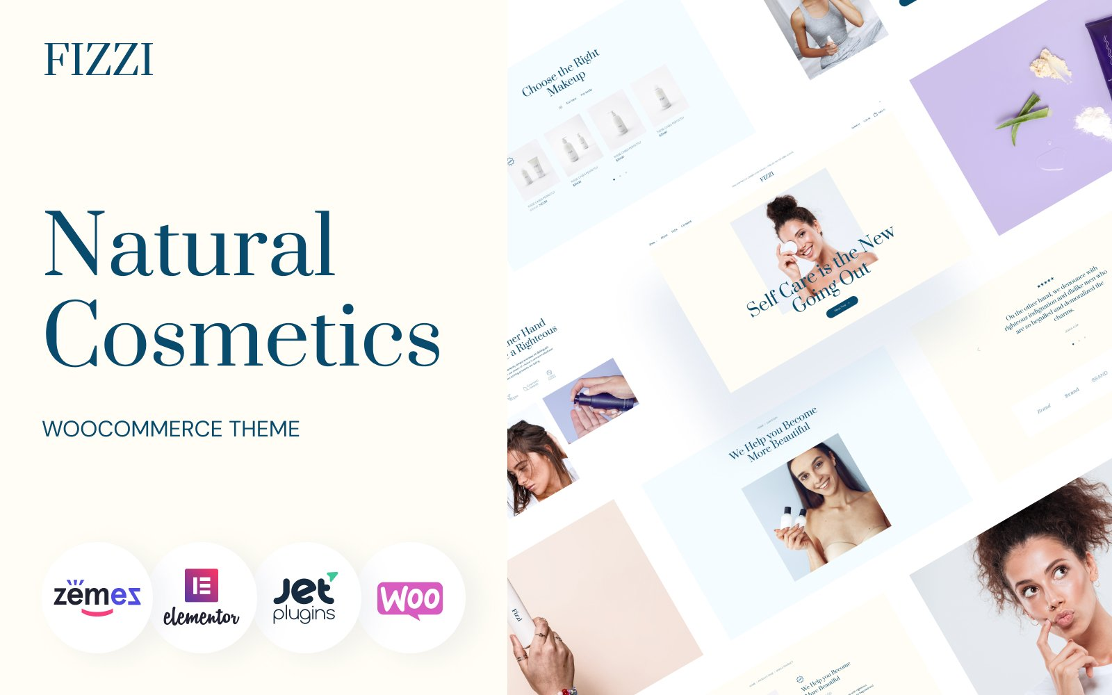 """Natural Cosmetics Website Template - Fizzi"" thème WooCommerce adaptatif #139732"