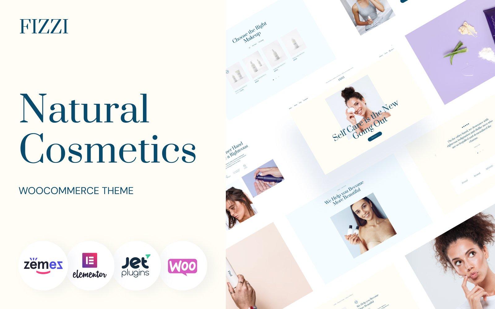 "Template WooCommerce Responsive #139732 ""Natural Cosmetics Website Template - Fizzi"""