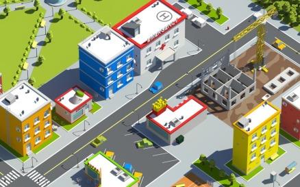 Low Poly City Model