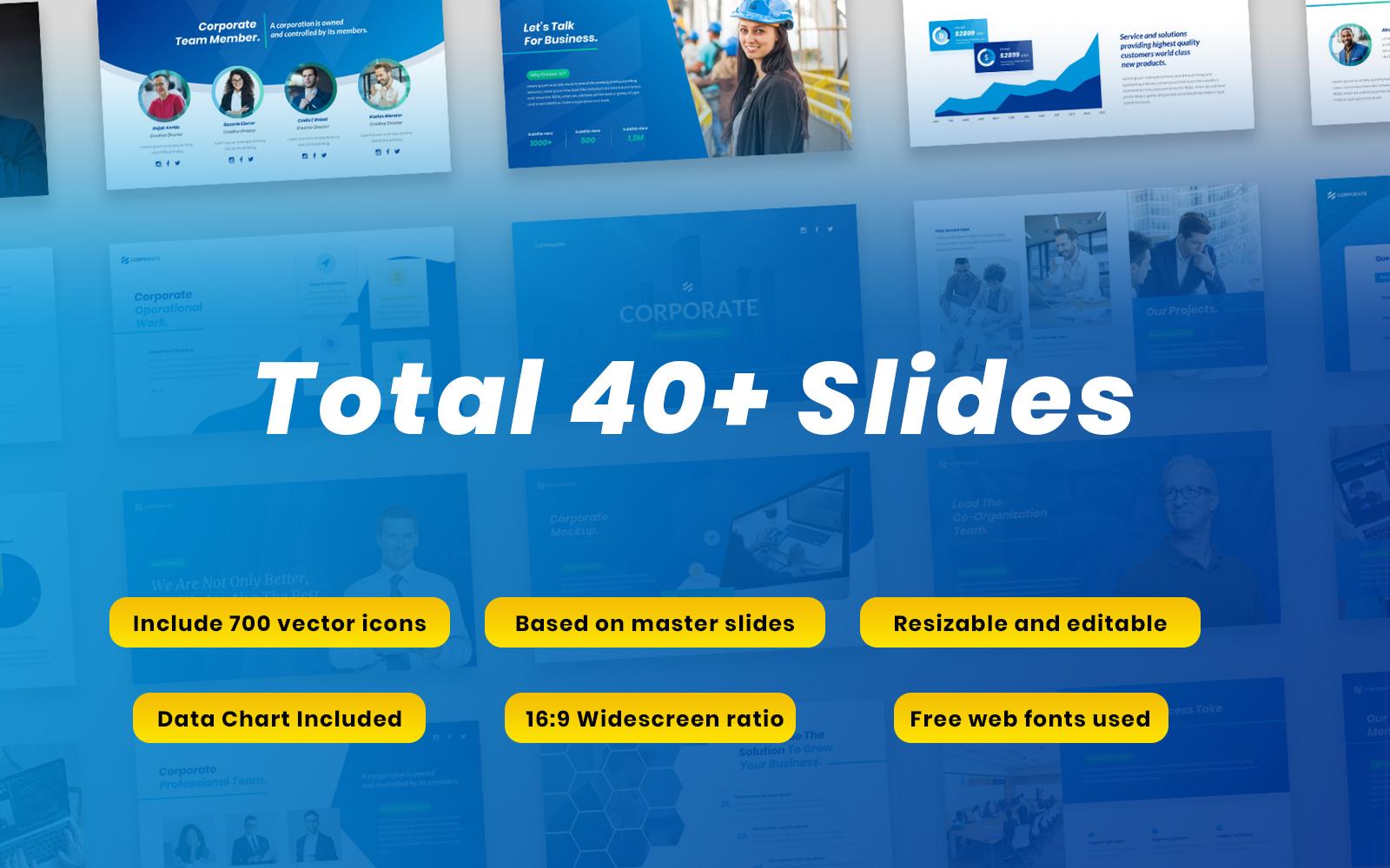 """Corporate - Multipurpose Business Templates Google Slides"" Google Slides №139868"