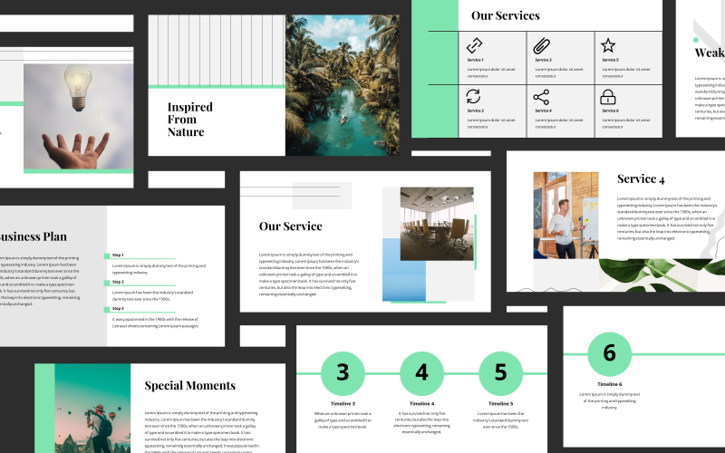Velsa Minimalist Green Presentation PowerPoint Template