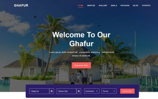 Al-Ghafur - Tour & Travel Agency Landing Page Template