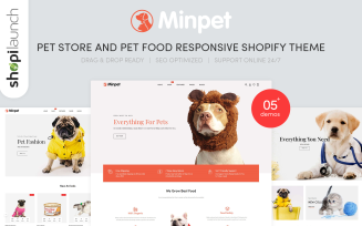 Minpet - Pet Store and Pet Food Responsive