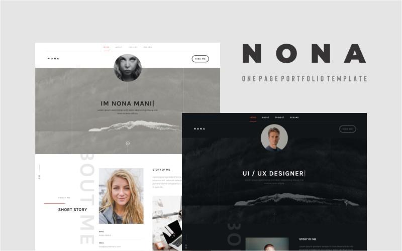 """""""Nona - Personal Portfolio"""" modèle  de page d'atterrissage adaptatif #139949"""