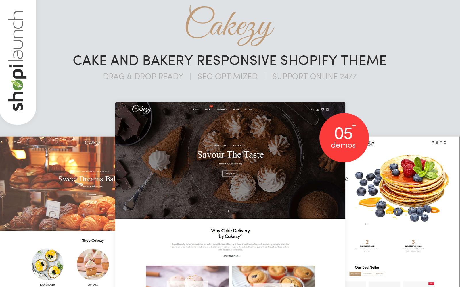 "Tema Shopify ""Cakezy - Cake & Bakery Responsive"" #139945"