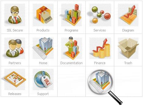Icon Set Template 14038 Screenshots