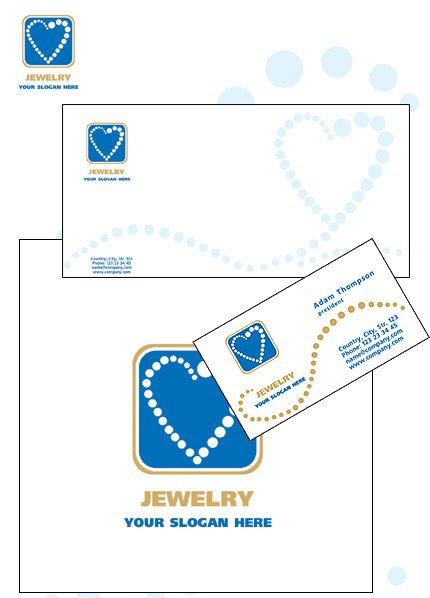 Jewelry Corporate Identity Template Vector Corporate Identity preview