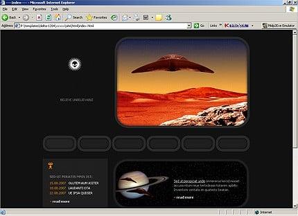 Page d'accueil HTML du kit graphique #14221