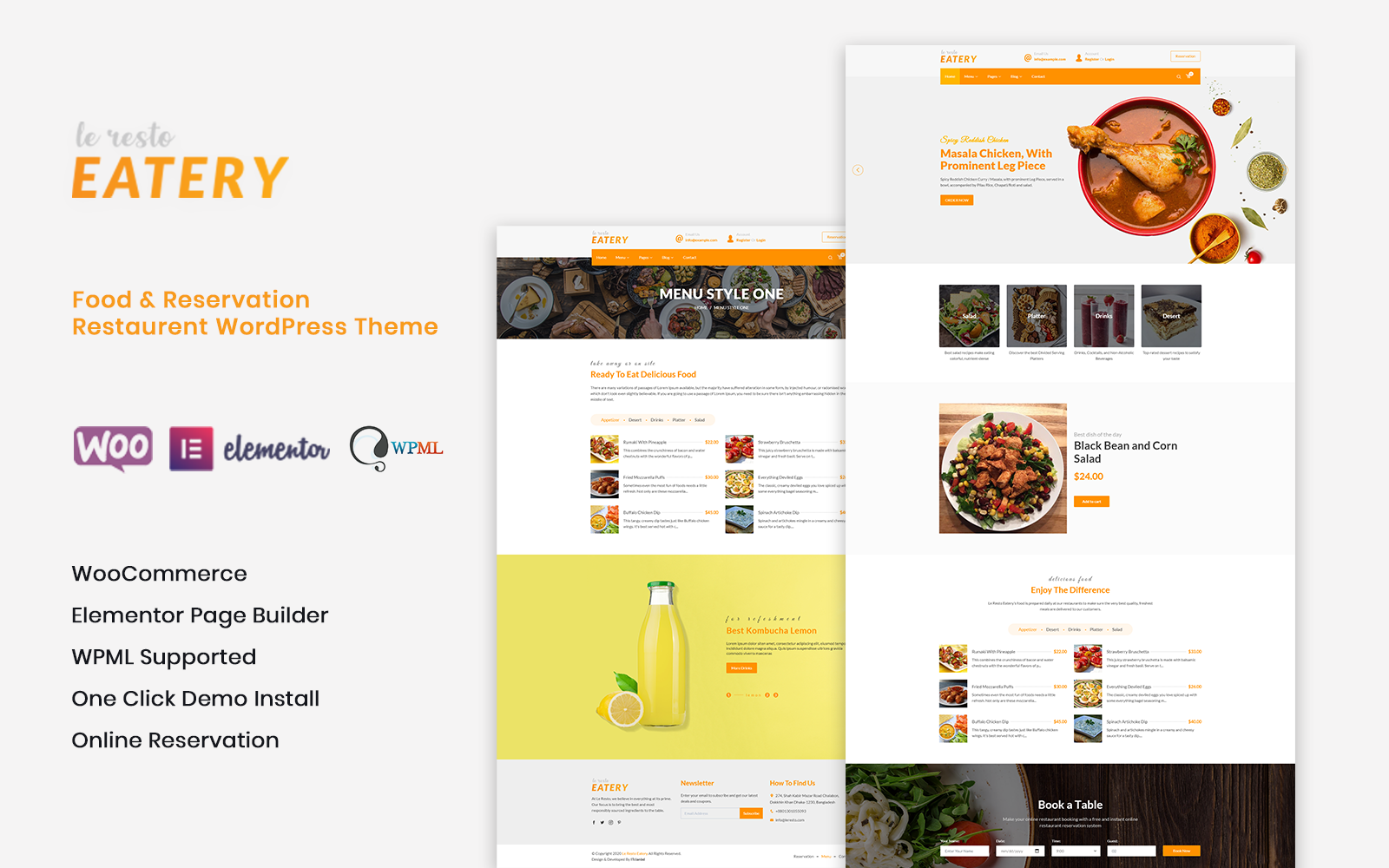Le Resto - Restaurant WordPress Theme