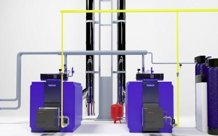 Buderus GE315 Heating Instalation 3D Model