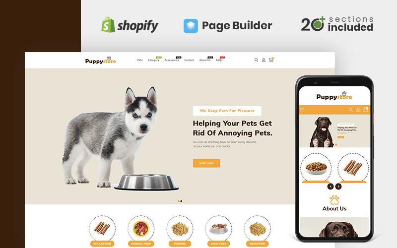 Reszponzív Puppy Store Shopify sablon 142996