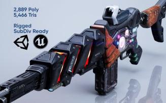Sci Fi Gun - Encre 3D Model