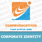 Communications Corporate Identity Template 14383