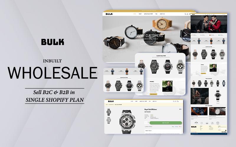 Responsivt Bulk - Wholesale   Sell B2B and B2C Shopify-tema #143001