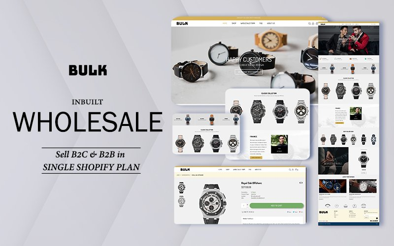 "Tema Shopify Responsive #143001 ""Bulk - Wholesale 