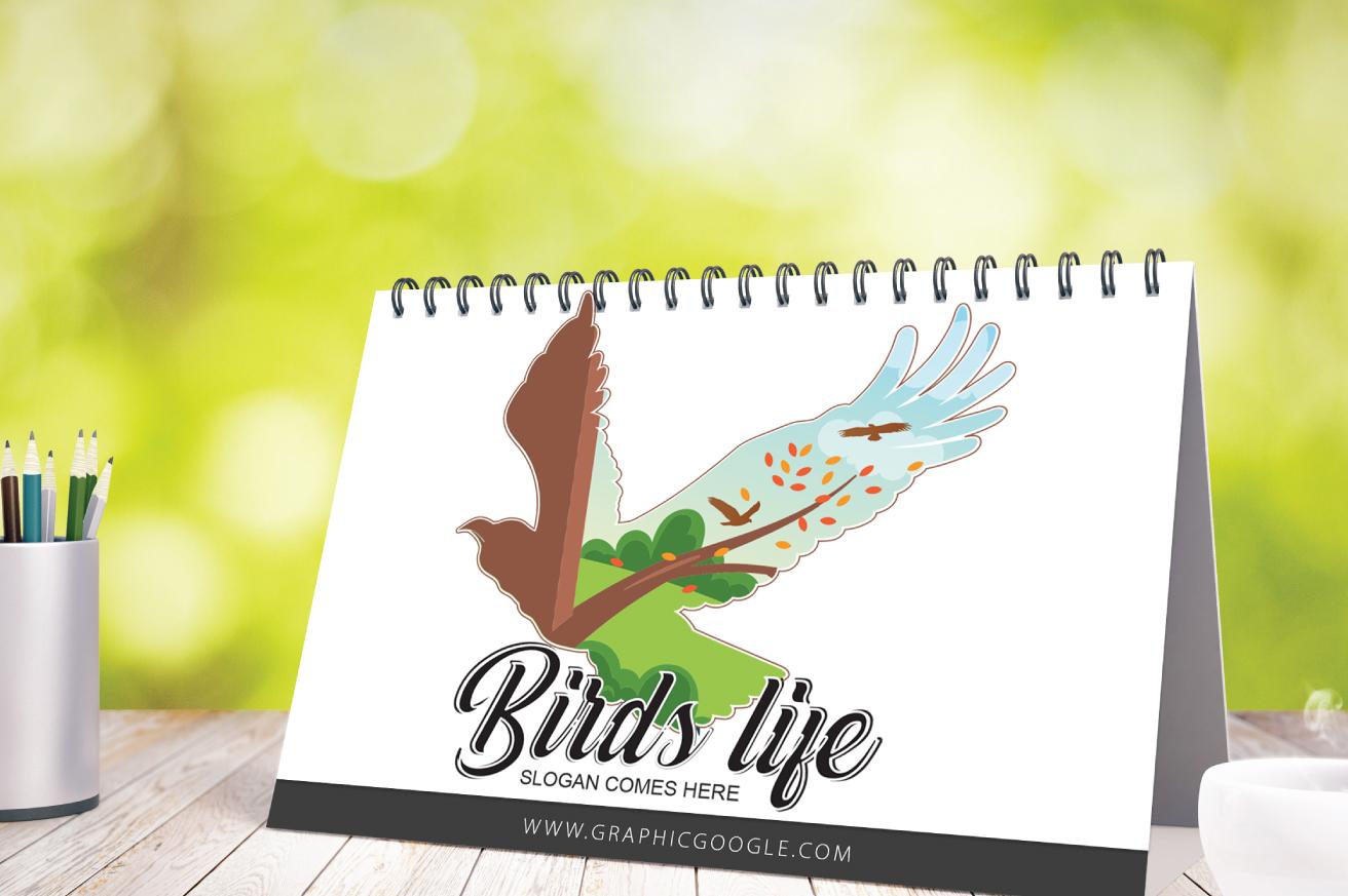 "Template di Loghi #143095 ""Birds Life"""