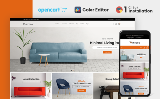 Interio Furniture Store OpenCart Template