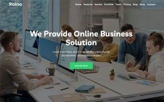 Raino - Digital Agency One page WordPress Theme