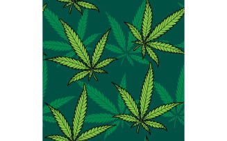 Hemp Seamless Pattern - Illustration