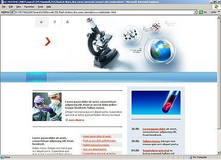 Page d'accueil HTML du kit graphique #14405