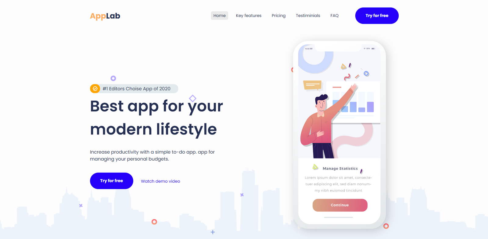 Modern App Landing Page Template