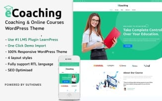 eCoaching - Coaching & Online Courses WordPress Theme