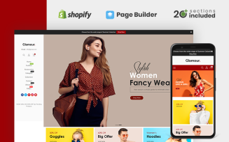 Glamour Fashion Store Shopify Theme