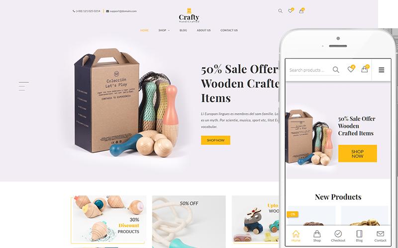Reszponzív Crafty - A Clean, Minimalist WooCommerce sablon 144041