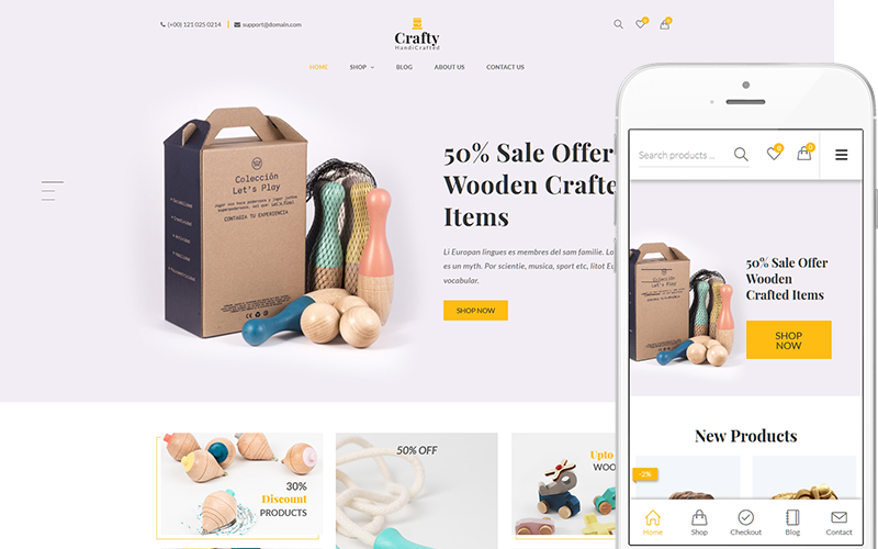 "WooCommerce Theme namens ""Crafty - A Clean, Minimalist"" #144041"