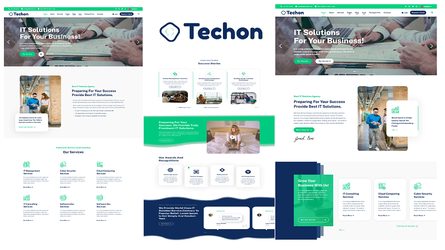 Techon - IT Solutions and Services HTML5 Website Template