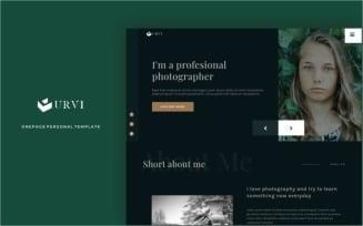Curvi - personal multipurpose portfolio Landing Page Template