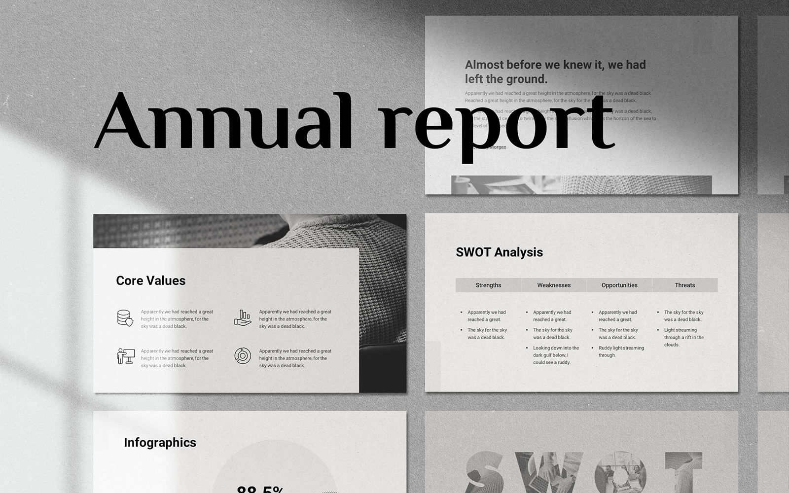 Annual Report - Smooth Animated Template Google Slides #144766