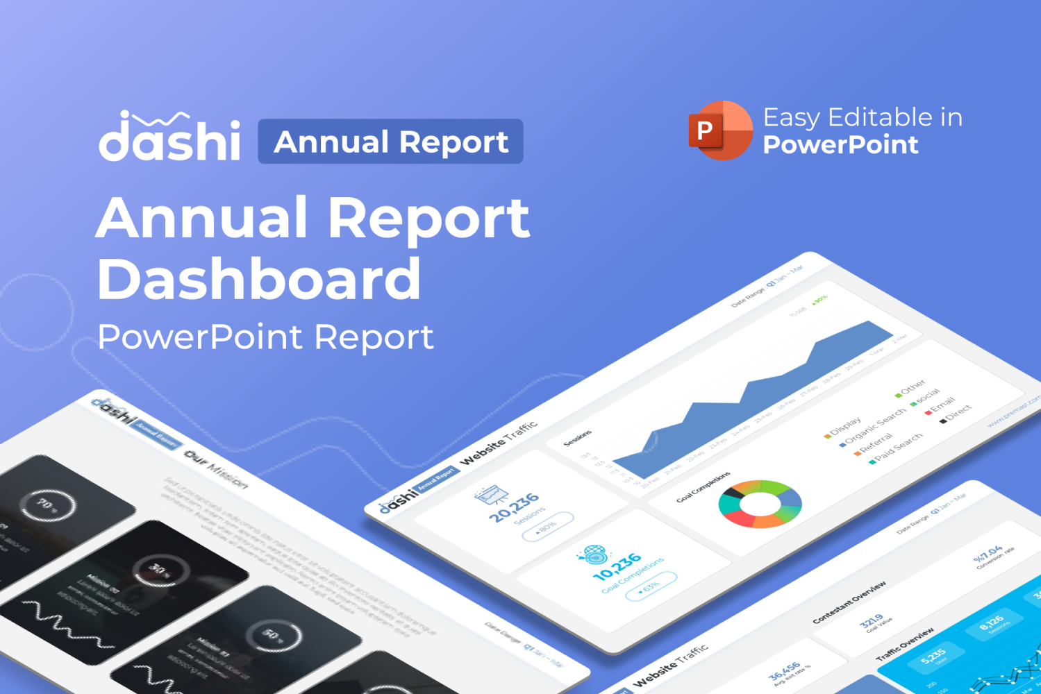 Dashi Annual Report Presentation PPT PowerPoint Template