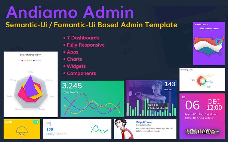 Andiamo Admin - Semantic-Ui / Fomantic-Ui Based Responsive №145309