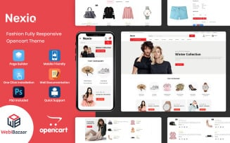 Nexio - Fashion and Cloths Accessories OpenCart Template