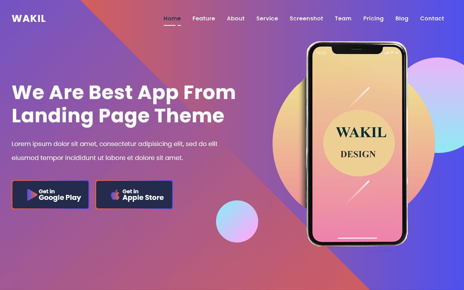 Responsive Al-Wakil - Multpurpose  App & Product Açılış Sayfası #145321