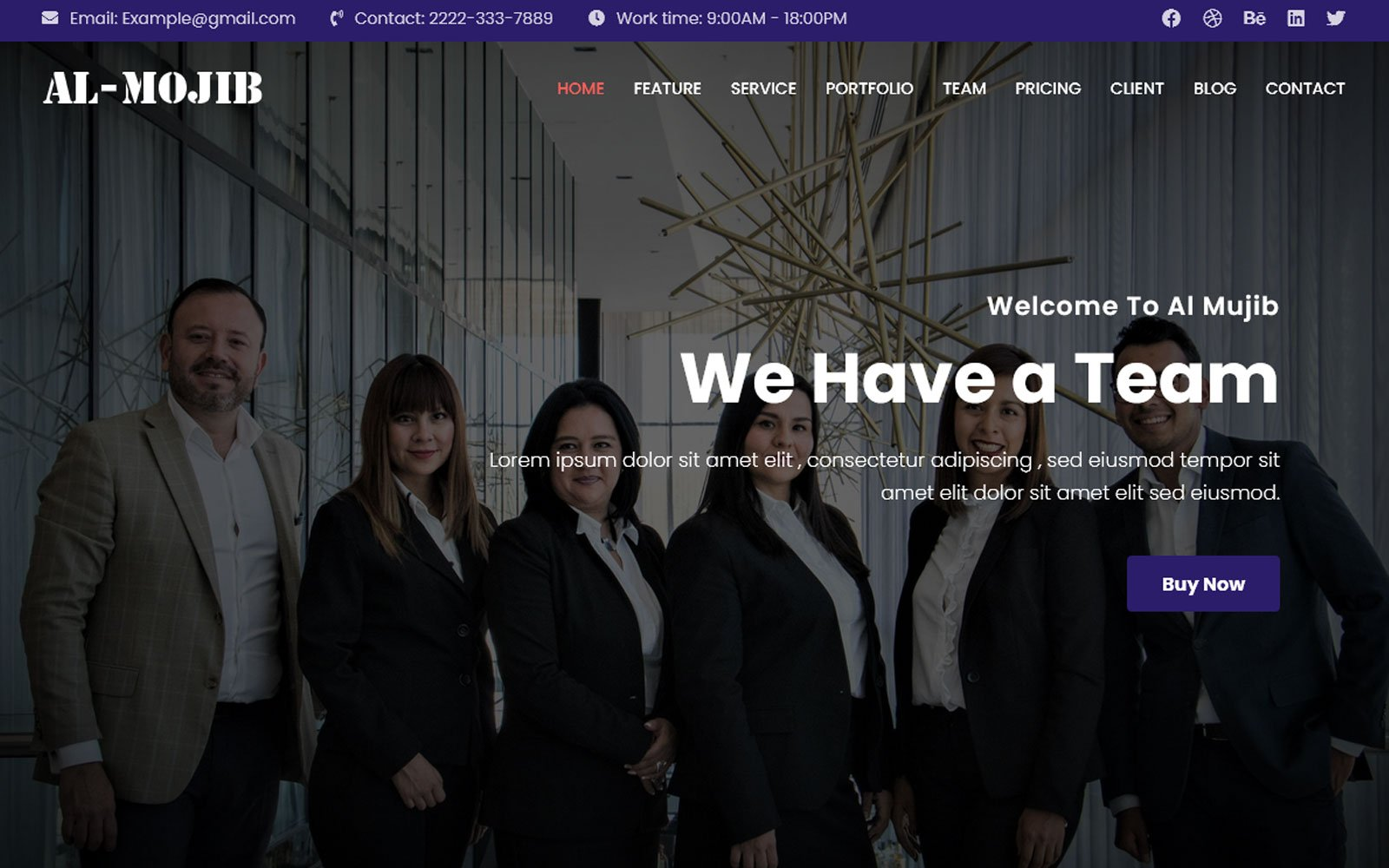 Responsivt Al-Mujib - Multipurpose Busniess & Consulting Agency Landing Page-mall #145313
