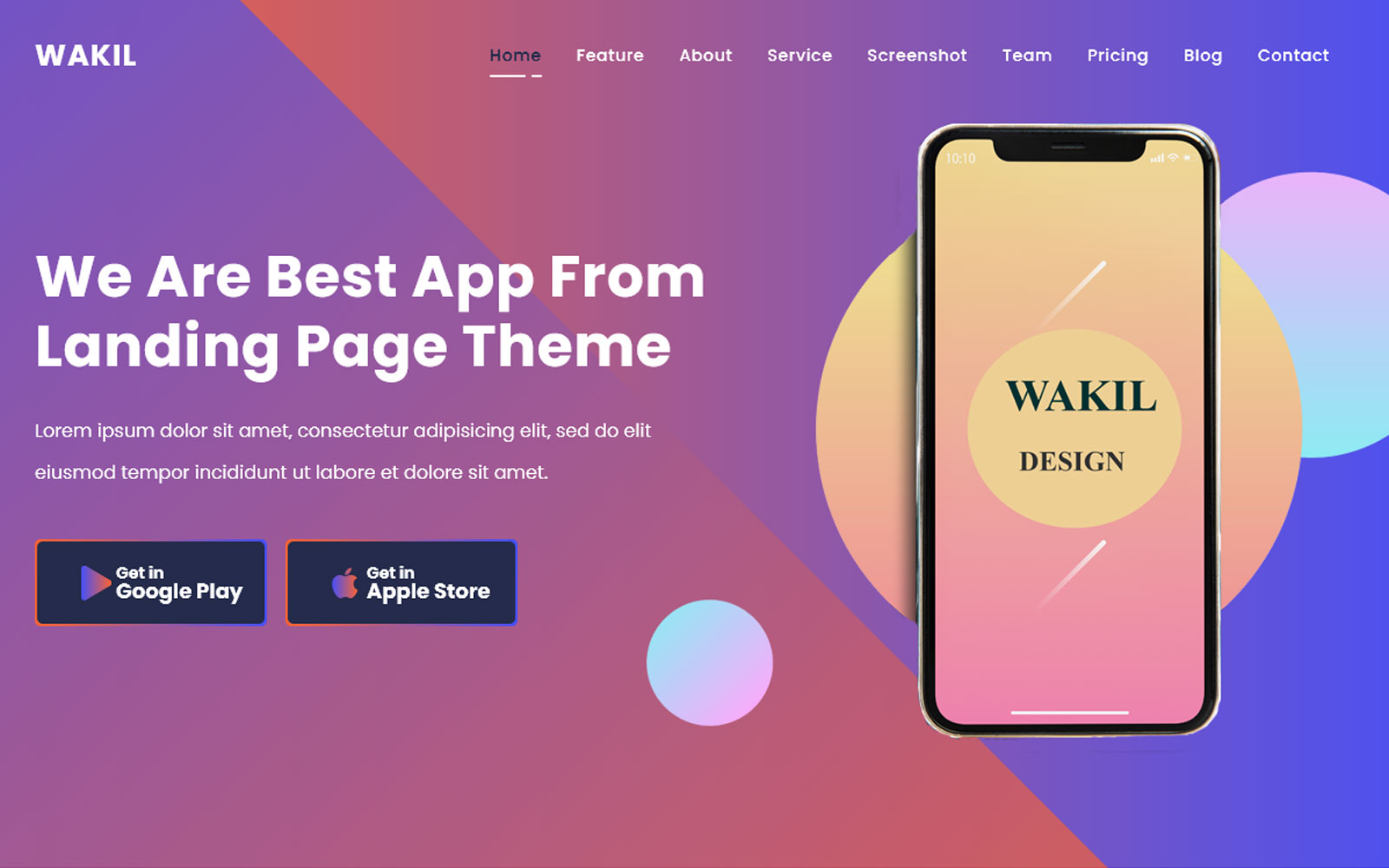 Responsywny szablon Landing Page Al-Wakil - Multpurpose  App & Product #145321