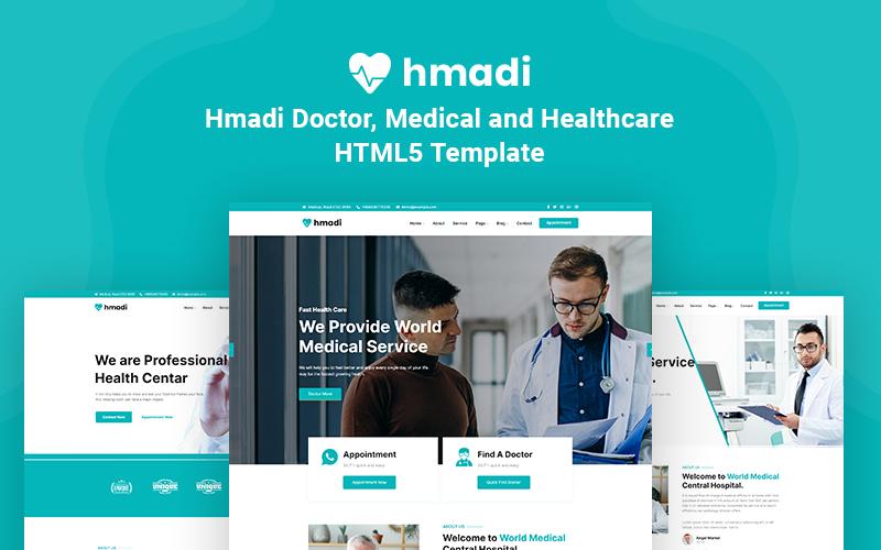 """Responzivní Šablona webových stránek """"Hmadi - Doctor, Medical and Healthcare"""" #145315"""