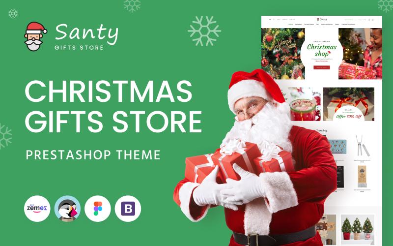 """Santy - Christmas Gifts Store"" thème PrestaShop adaptatif #145325"